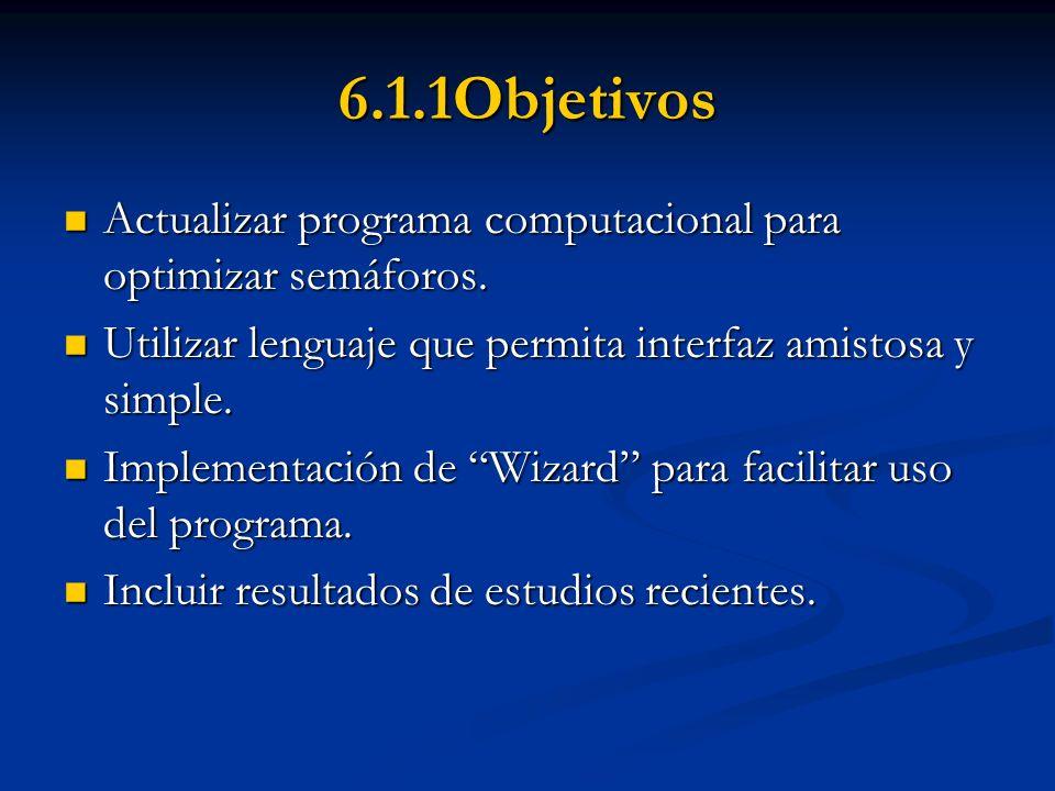 6.1.2 Alcances Revisión y aplicación de modelos y procedimientos existentes.