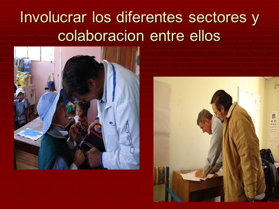 Involucrar los diferentes sectores y colaboracion entre ellos
