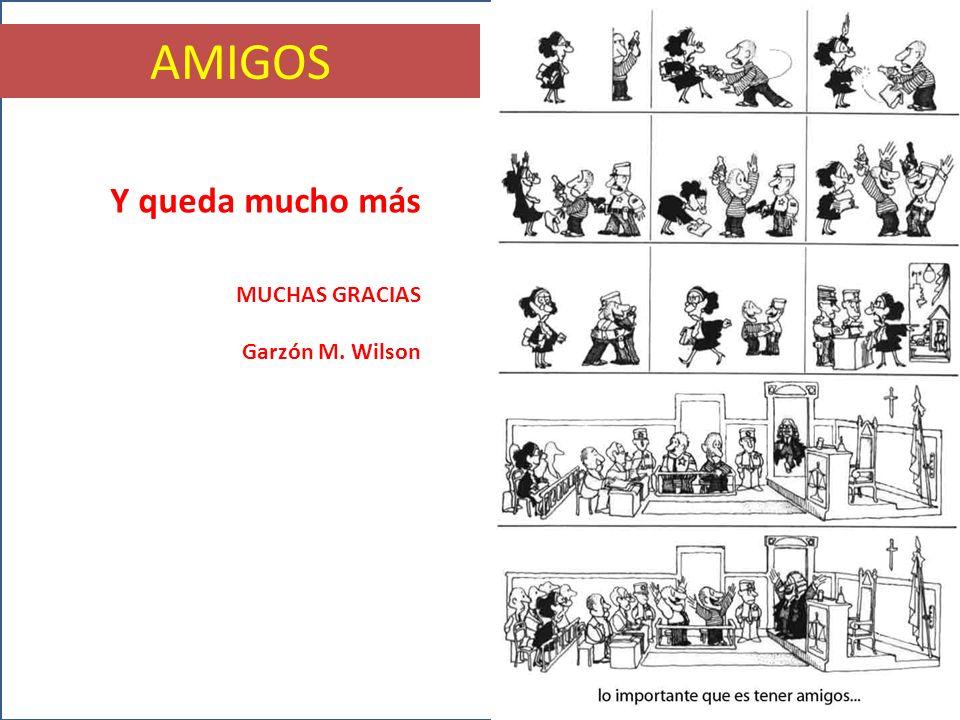 AMIGOS Y queda mucho más MUCHAS GRACIAS Garzón M. Wilson