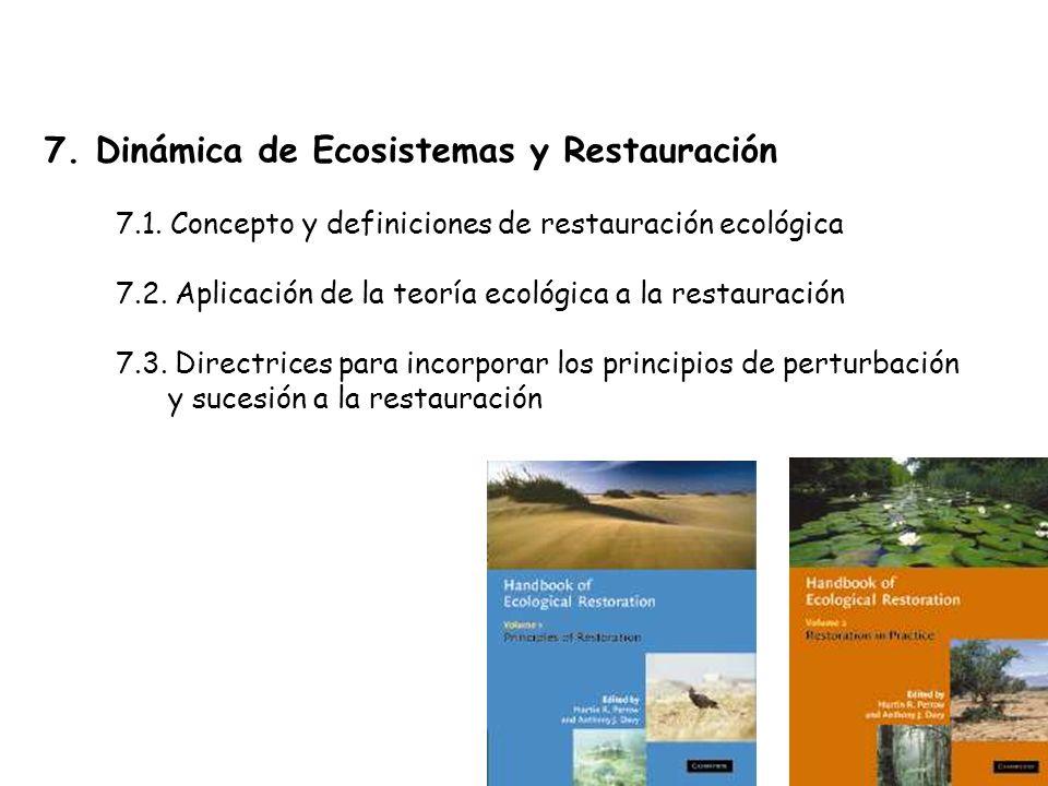 7.Dinámica de Ecosistemas y Restauración 7.1.