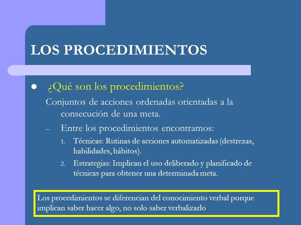 LOS PROCEDIMIENTOS ¿Qué son los procedimientos.
