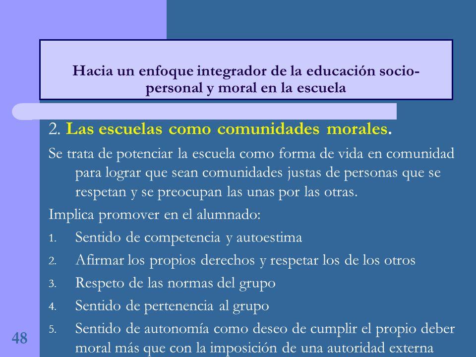 2.Las escuelas como comunidades morales.