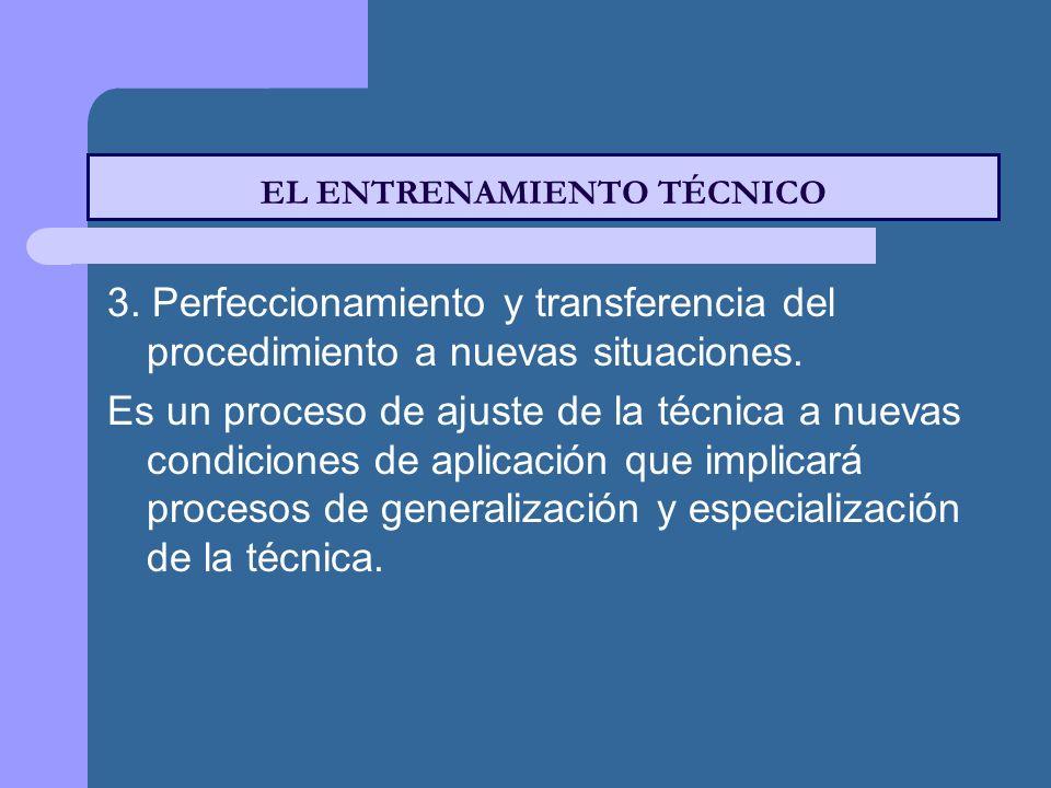 3.Perfeccionamiento y transferencia del procedimiento a nuevas situaciones.