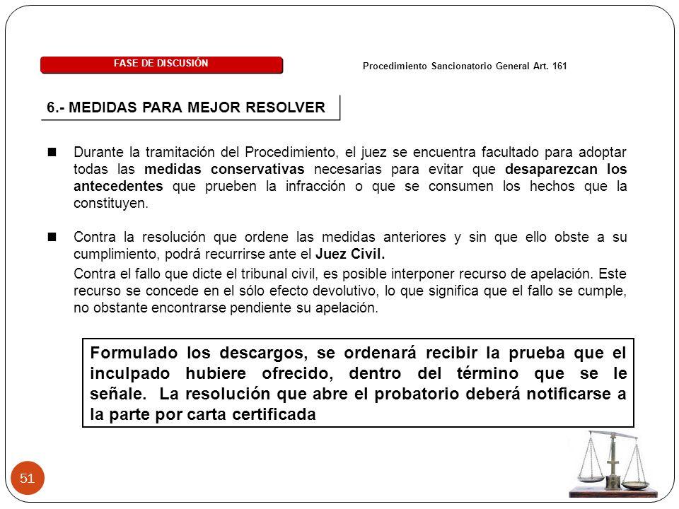 51 FASE DE DISCUSIÓN Procedimiento Sancionatorio General Art.