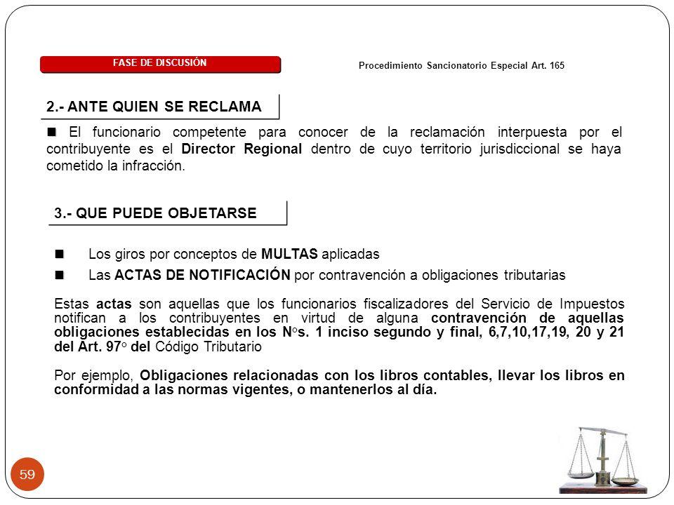 59 FASE DE DISCUSIÓN Procedimiento Sancionatorio Especial Art.