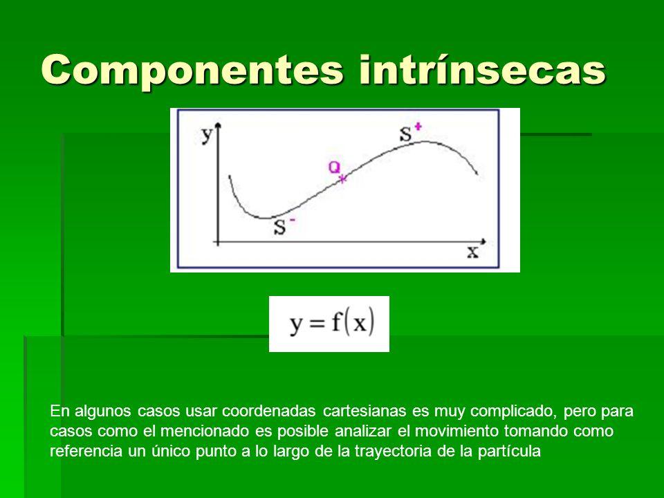 Componentes intrínsecas En algunos casos usar coordenadas cartesianas es muy complicado, pero para casos como el mencionado es posible analizar el mov