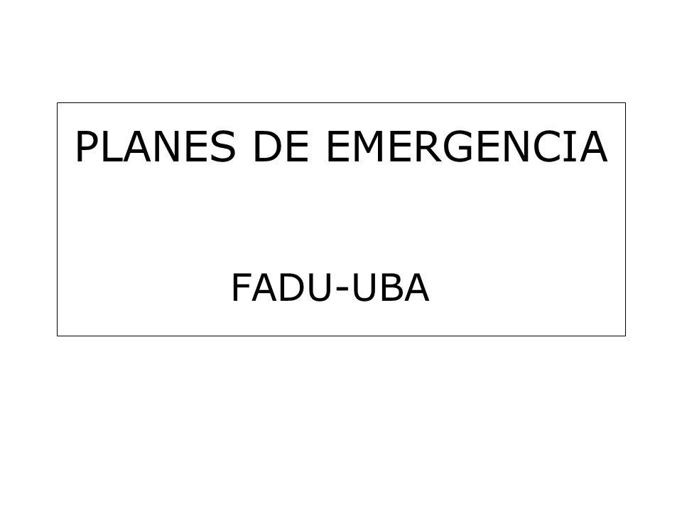 PLANES DE EMERGENCIA FADU-UBA