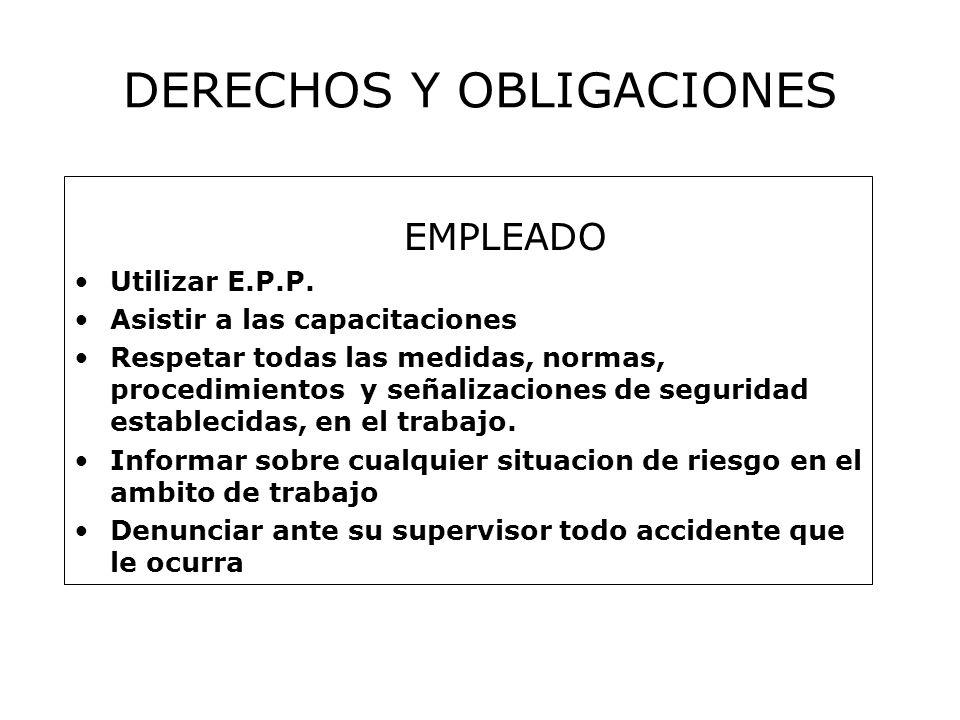 EMPLEADO Utilizar E.P.P.