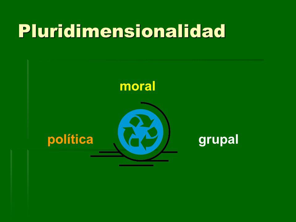 Pluridimensionalidad moral políticagrupal