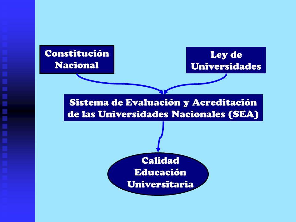 CONCEPTO DE CALIDAD UNIVERSITARIA ADECUACIÓN DE LOS RESULTADOS Y FUNCIONAMIENTO A SU MISIÓN (SEA, 2002)