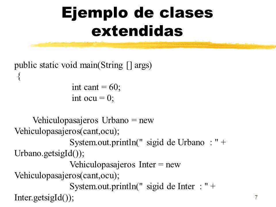 18 Anulación y sobrecarga de métodos public class Animal { public static void testClassMethod() { System.out.println( The class method in Animal. ); } public void testInstanceMethod() { System.out.println( The instance method in Animal. ); } }