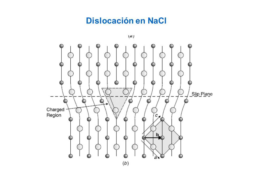 Dislocación en NaCl