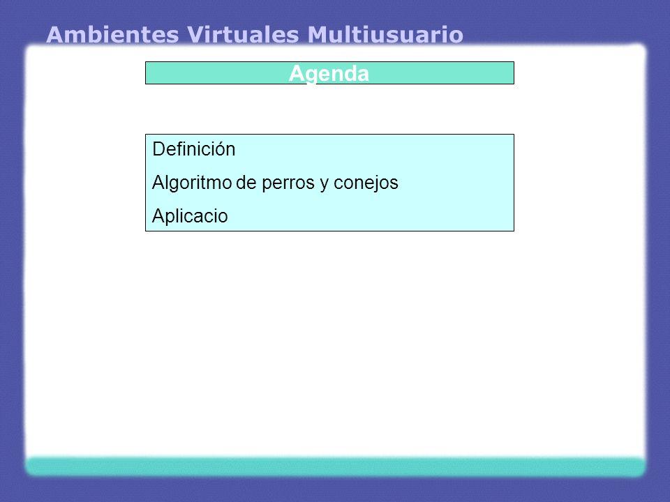 Ambientes Virtuales Multiusuario Definición Sistema colaborativo de sistemas de RV en red.
