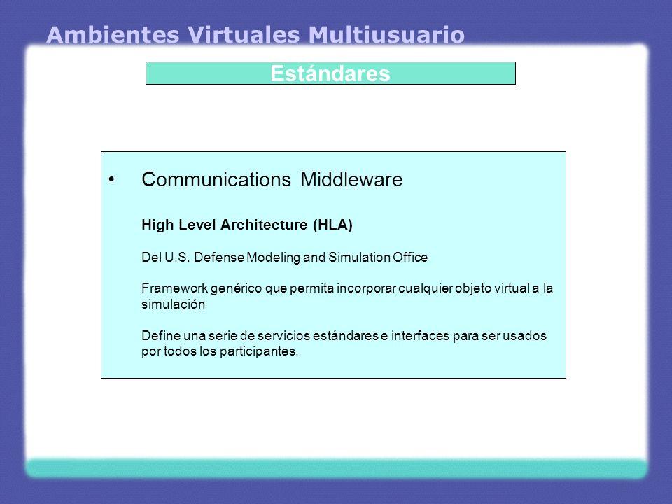 Ambientes Virtuales Multiusuario Aspectos de Red Ancho de Banda Distribución de la Red Latencia Confiabilidad