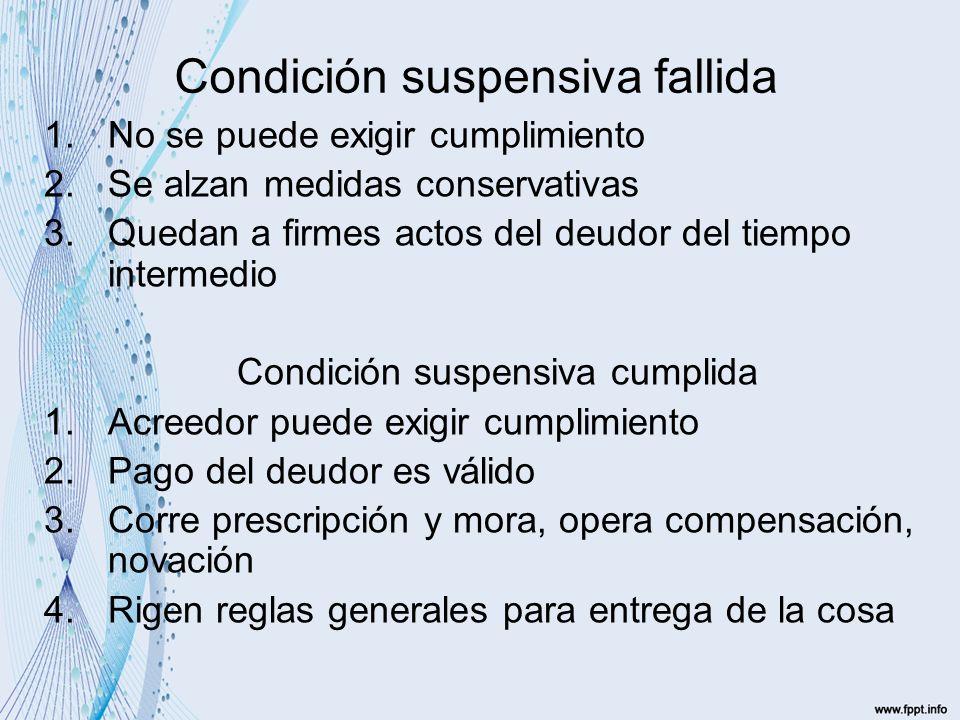 Condición resolutoria (de ella depende la extinción del derecho) Clases: 1.Condición resolutoria tácita (1489) 2.Pacto comisorio (simple o calificado) 3.Condición resolutoria ordinaria
