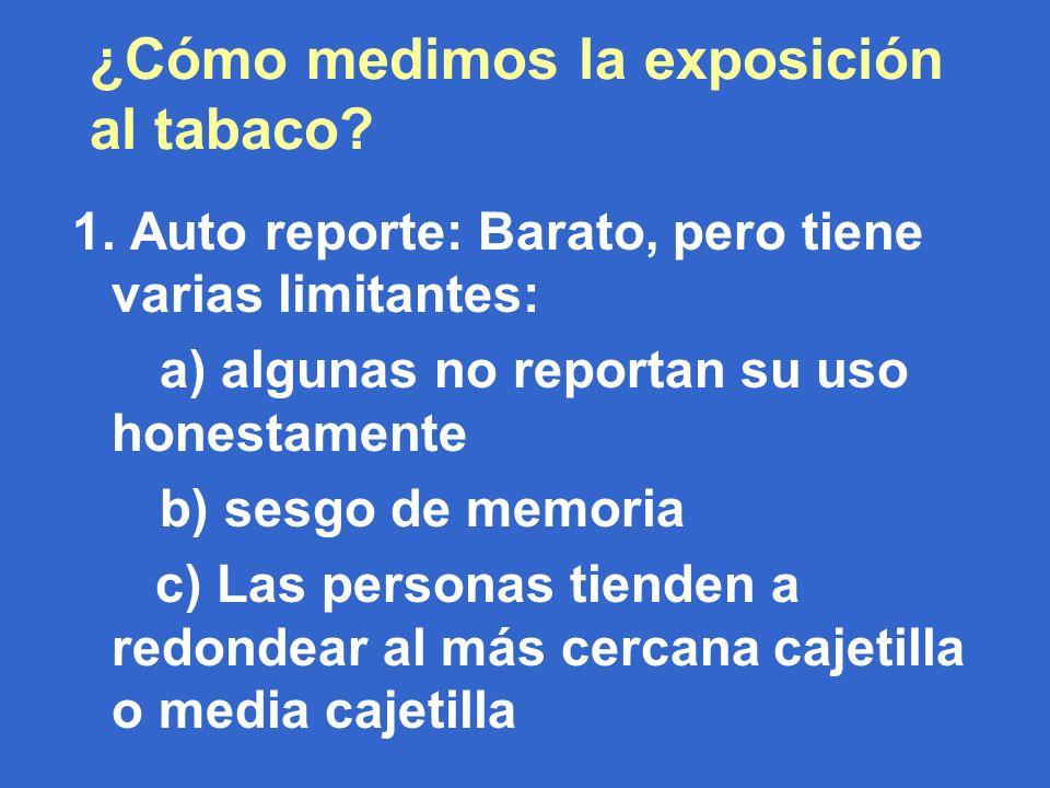 ¿Cómo medimos la exposición al tabaco. 1.