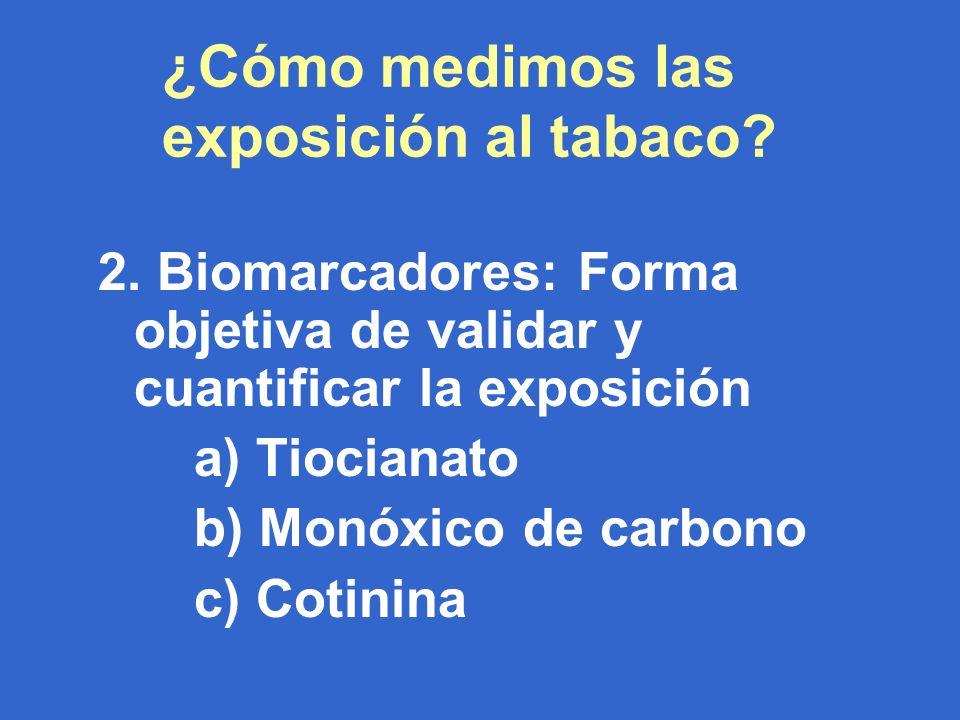 ¿Cómo medimos las exposición al tabaco. 2.