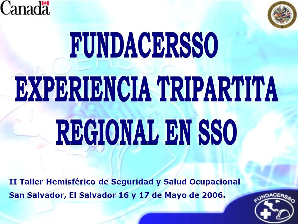 II Taller Hemisférico de Seguridad y Salud Ocupacional San Salvador, El Salvador 16 y 17 de Mayo de 2006.