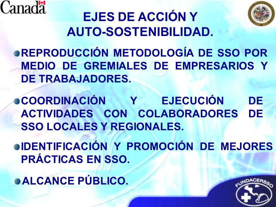 REPRODUCCIÓN METODOLOGÍA DE SSO POR MEDIO DE GREMIALES DE EMPRESARIOS Y DE TRABAJADORES. COORDINACIÓN Y EJECUCIÓN DE ACTIVIDADES CON COLABORADORES DE