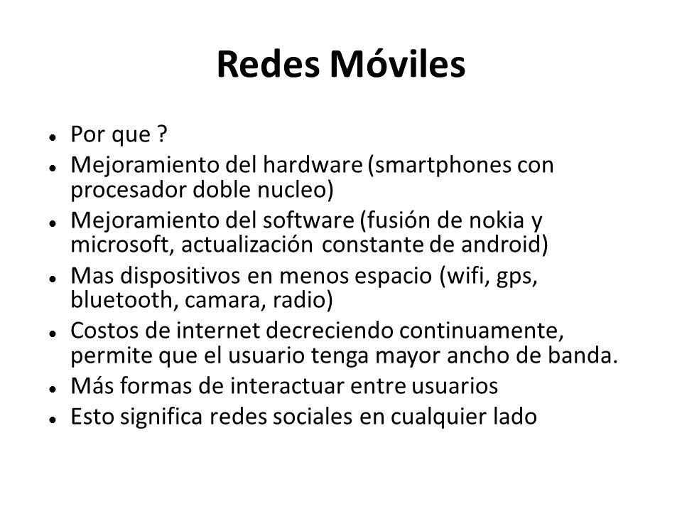 Redes Móviles Por que .