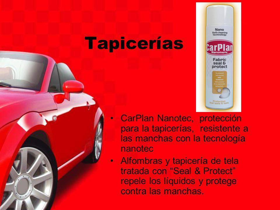 Tapicerías CarPlan Nanotec, protección para la tapicerías, resistente a las manchas con la tecnología nanotec Alfombras y tapicería de tela tratada co