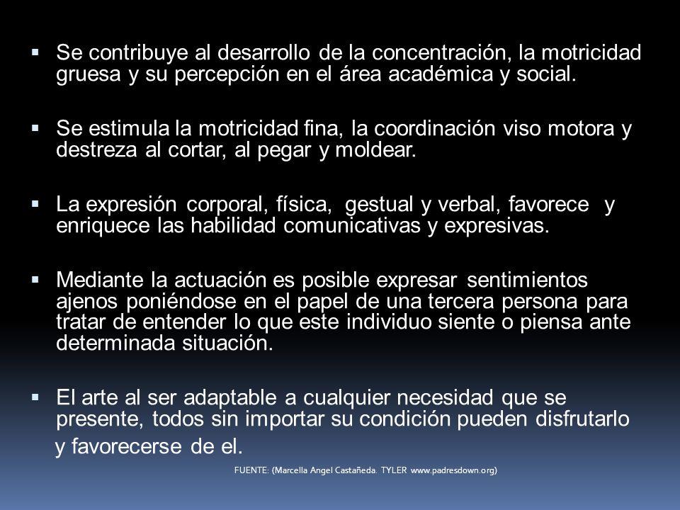 Se contribuye al desarrollo de la concentración, la motricidad gruesa y su percepción en el área académica y social. Se estimula la motricidad fina, l