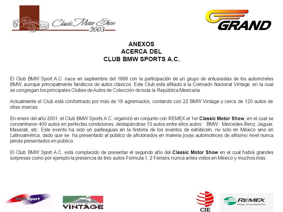 ANEXOS ACERCA DEL CLUB BMW SPORTS A.C. El Club BMW Sport A.C.