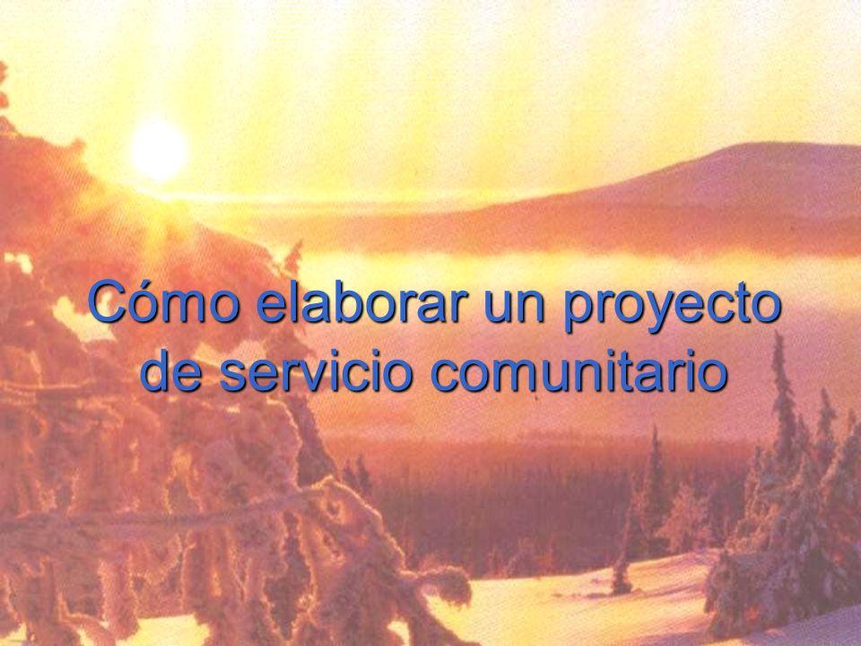 Cómo elaborar un proyecto de servicio comunitario