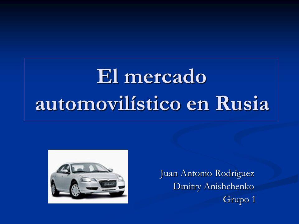 El mercado automovilístico en Rusia Juan Antonio Rodríguez Juan Antonio Rodríguez Dmitry Anishchenko Dmitry Anishchenko Grupo 1 Grupo 1