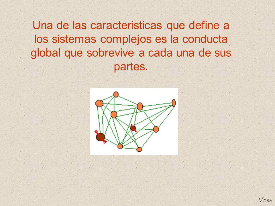 Vhsa Una de las caracteristicas que define a los sistemas complejos es la conducta global que sobrevive a cada una de sus partes.
