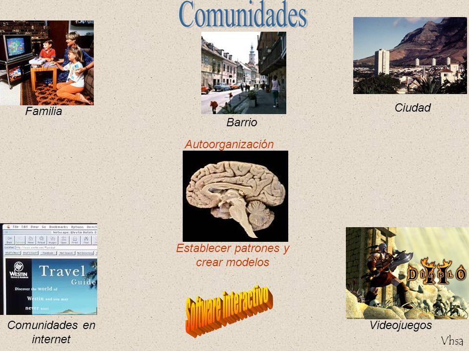 Vhsa Familia Autoorganización Establecer patrones y crear modelos Ciudad Barrio Comunidades en internet Videojuegos