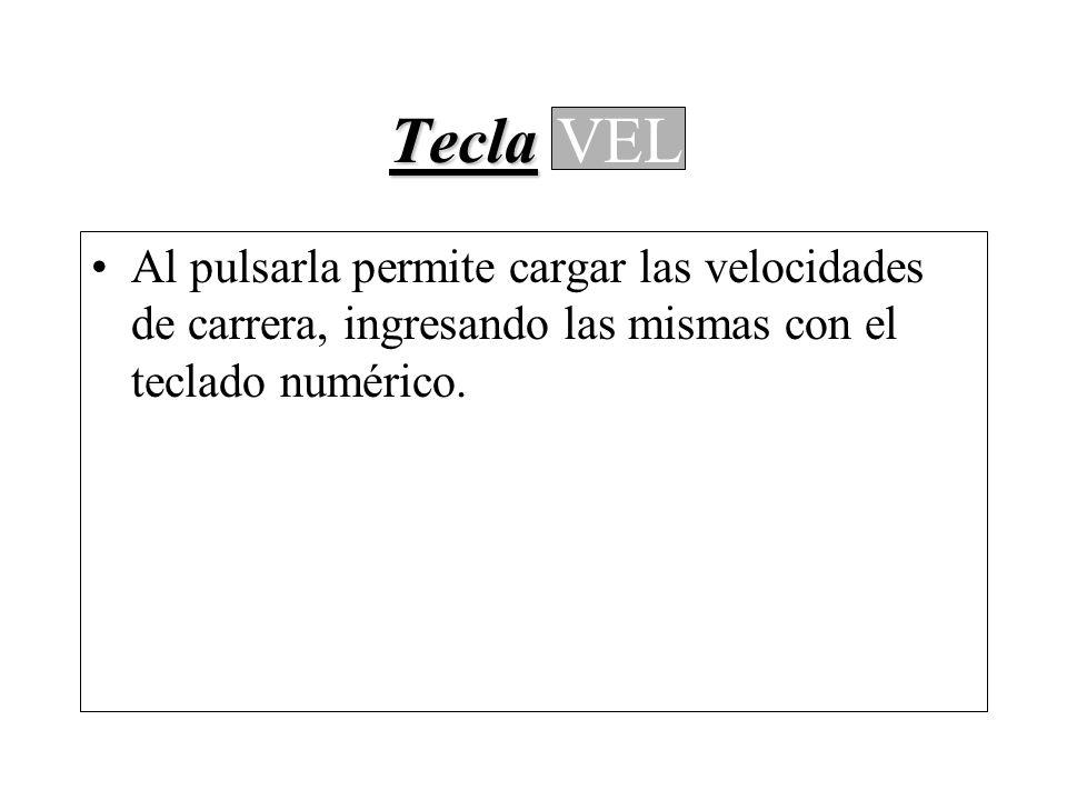 Tecla Tecla MENU 1.Factor Odómetro 2.Corrección Odómetro 3.Distancia Real 4.Hora Oficial 5.Control Horario (Autolargada) 6.Bips c/ 100m 7.Útiles MENU