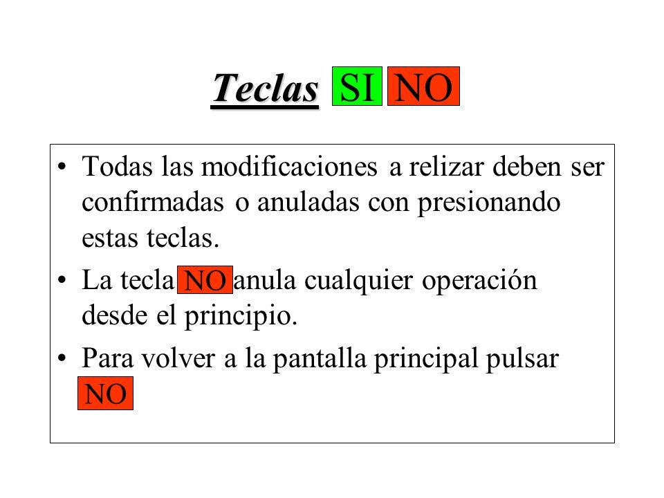 Tecla Tecla VEL Al pulsarla permite cargar las velocidades de carrera, ingresando las mismas con el teclado numérico.