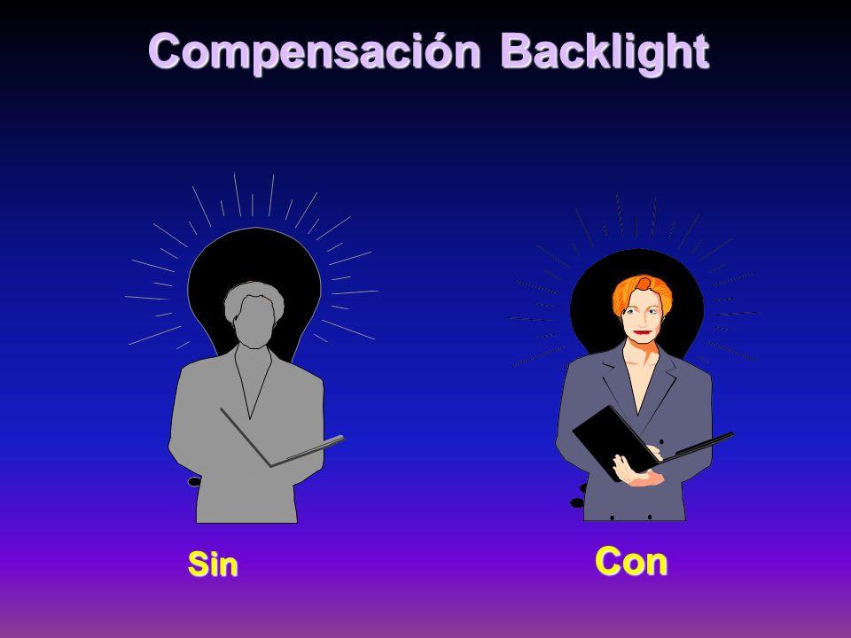 Compensación Backlight Sin Con
