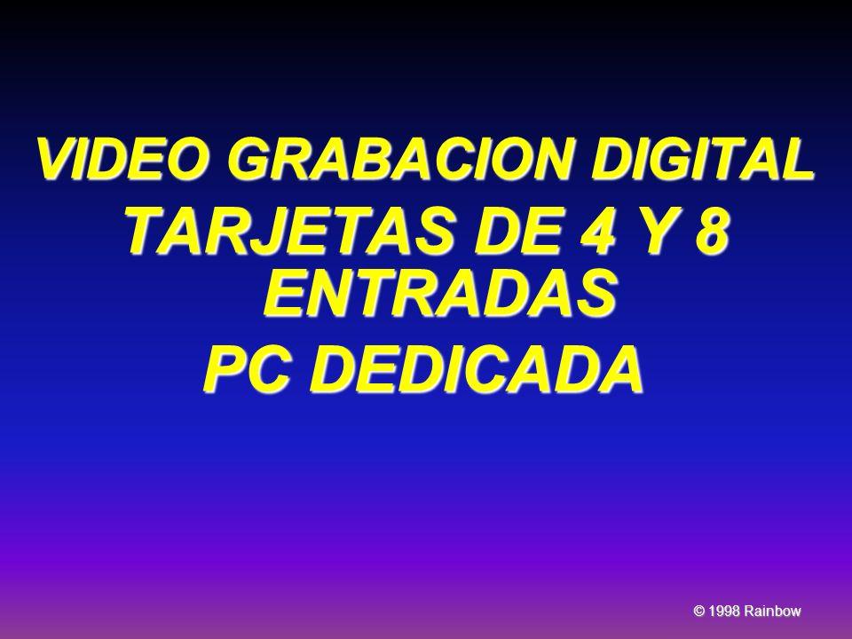 VIDEO GRABACION DIGITAL TARJETAS DE 4 Y 8 ENTRADAS PC DEDICADA © 1998 Rainbow