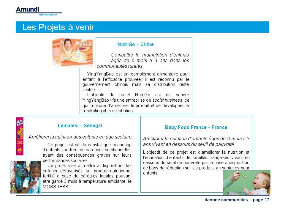 danone.communities - page 17 Les Projets à venir NutriGo – Chine Combattre la malnutrition denfants âgés de 6 mois à 3 ans dans les communautés rurale