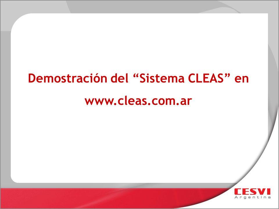 Demostración del Sistema CLEAS en www.cleas.com.ar