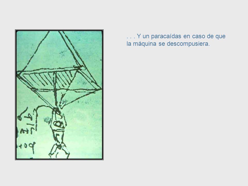 ... Ingeniería aeronáutica. Este es su esquema para una máquina voladora del siglo XVI...