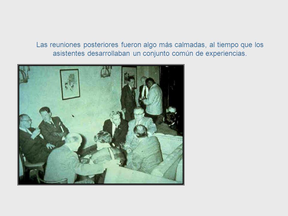 Había discusiones tan acaloradas y eran tan exitantes que Margaret Mead, que asistía a ellos, un día no notó que se había quebrado un diente sino hasta después de la reunión.