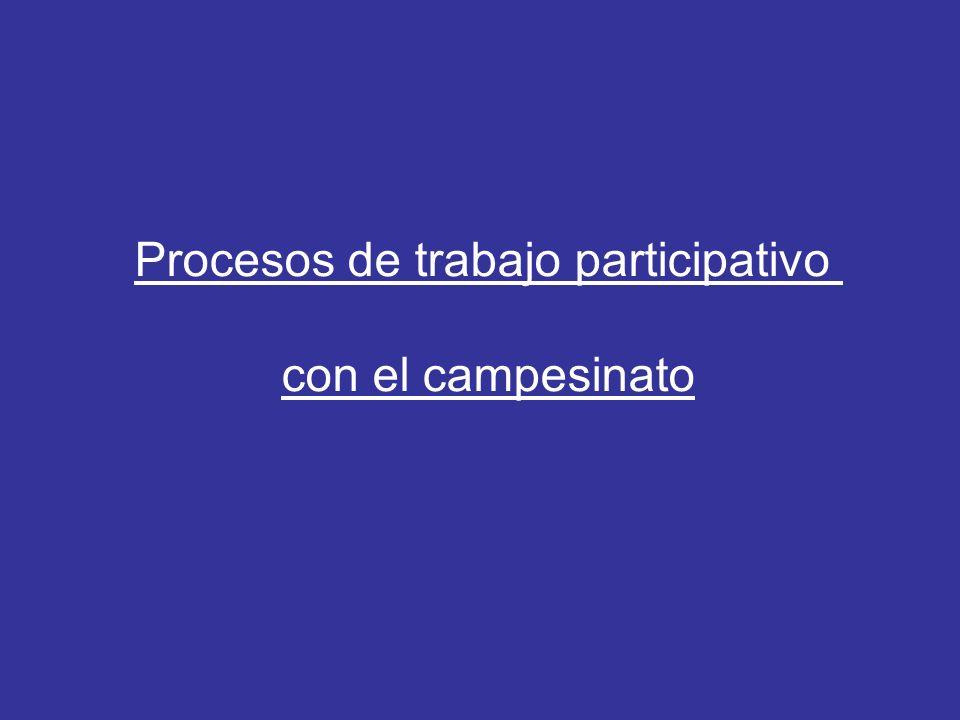 Procesos de trabajo participativo con el campesinato