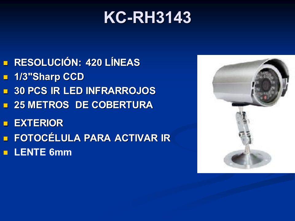 KC-RH3143 RESOLUCIÓN: 420 LÍNEAS RESOLUCIÓN: 420 LÍNEAS 1/3