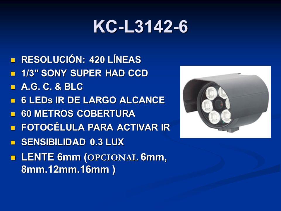 KC-L3142-6 RESOLUCIÓN: 420 LÍNEAS RESOLUCIÓN: 420 LÍNEAS 1/3