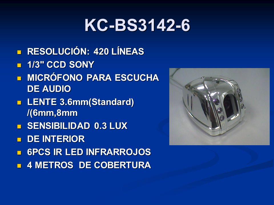 KC-BS3142-6 RESOLUCIÓN: 420 LÍNEAS RESOLUCIÓN: 420 LÍNEAS 1/3