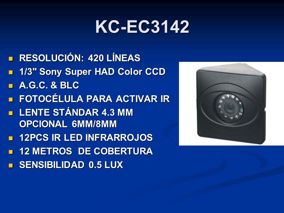 KC-EC3142 RESOLUCIÓN: 420 LÍNEAS RESOLUCIÓN: 420 LÍNEAS 1/3