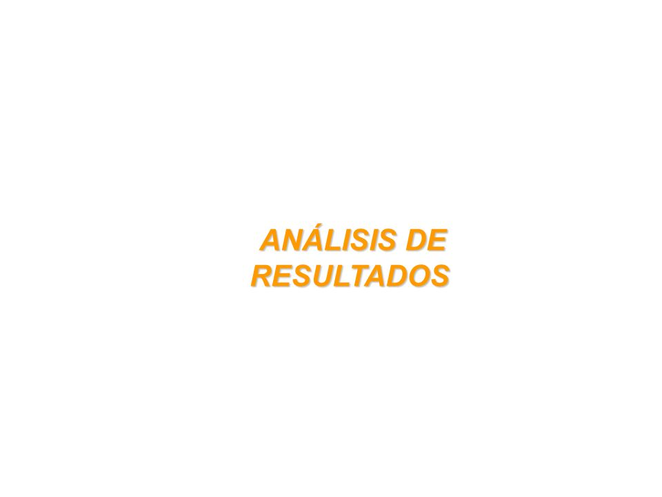 ANÁLISIS DE RESULTADOS ANÁLISIS DE RESULTADOS