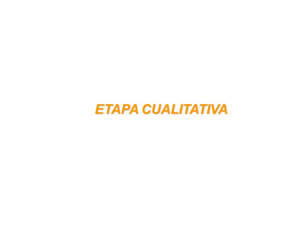 ETAPA CUALITATIVA ETAPA CUALITATIVA