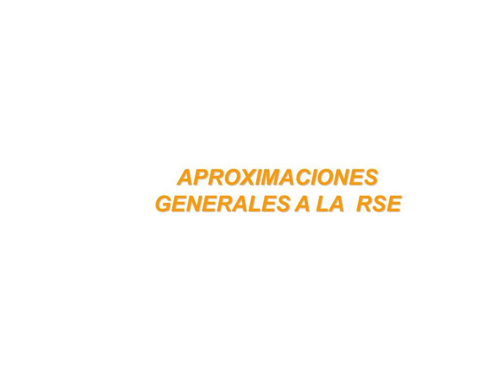 APROXIMACIONES GENERALES A LA RSE