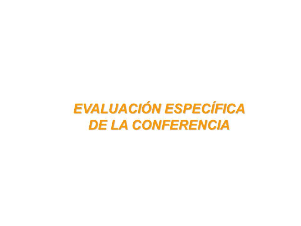 EVALUACIÓN ESPECÍFICA DE LA CONFERENCIA
