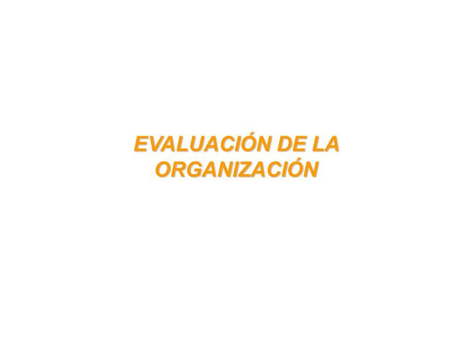 EVALUACIÓN DE LA ORGANIZACIÓN