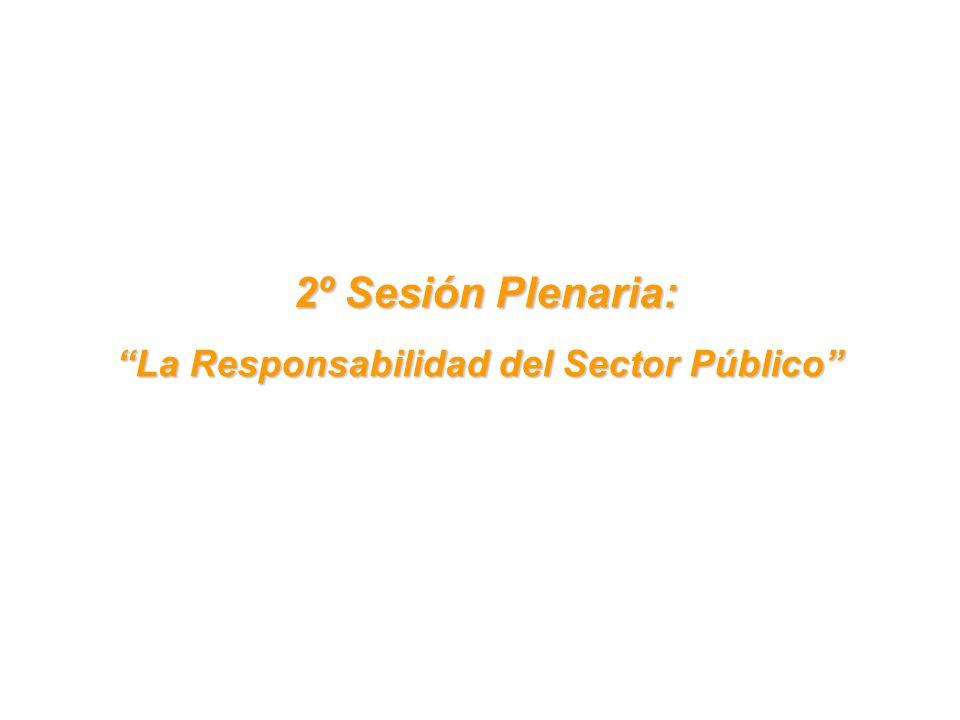 2º Sesión Plenaria: 2º Sesión Plenaria: La Responsabilidad del Sector Público
